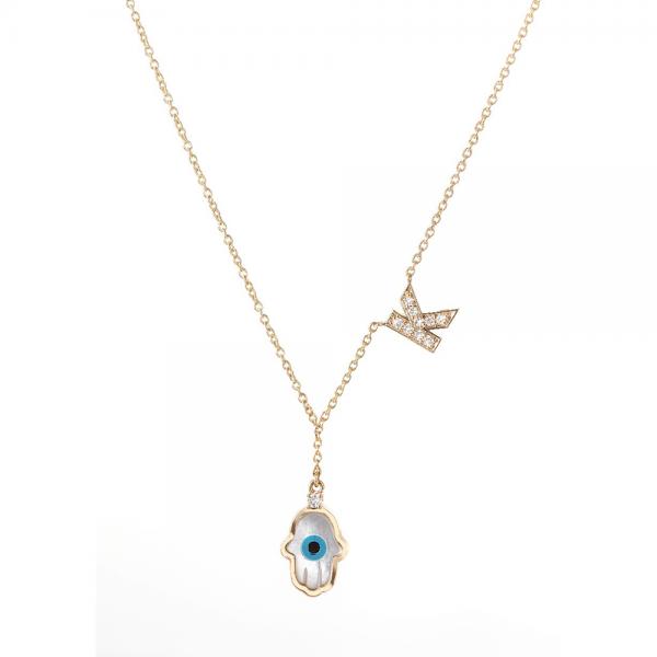Gold 18K / Diamond Pendant -Letter