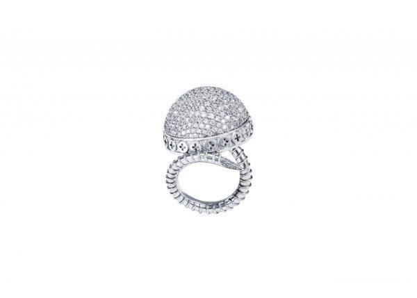 Full Diamond Ring – 18K Gold