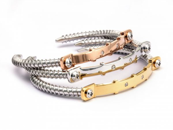 Diamond Bangle 18K Rose Gold(Strength Of Spirit)