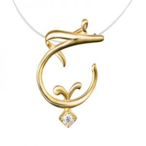 Love Pendant 18K yellow gold plated