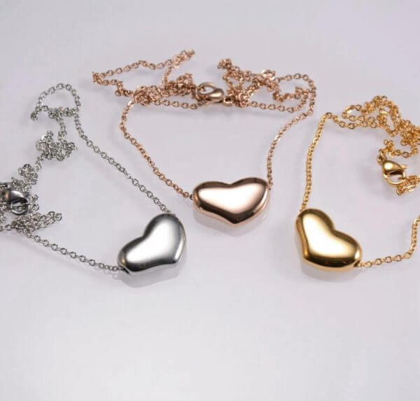 Fashion jewellery pendant stainless steel heart shape pendant