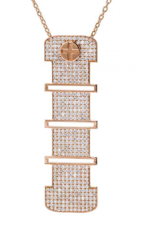 Full Diamond Pendant-15mm (Strength Of Spirit)