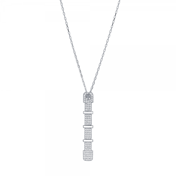 Full Diamond Pendant 4.5mm 18K (STRENGTH OF SPIRIT)