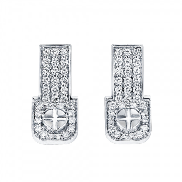 Full Diamond Earrings 18K Gold (Strength Of Spirit)