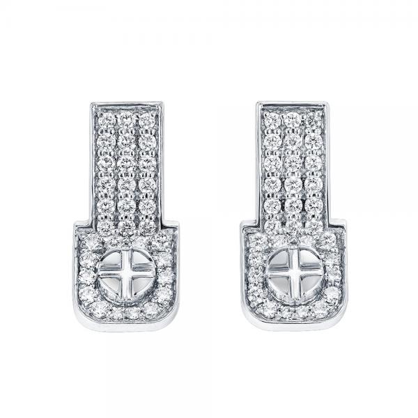 Full Diamond Earrings 18K Gold (Strength Of Spirit)
