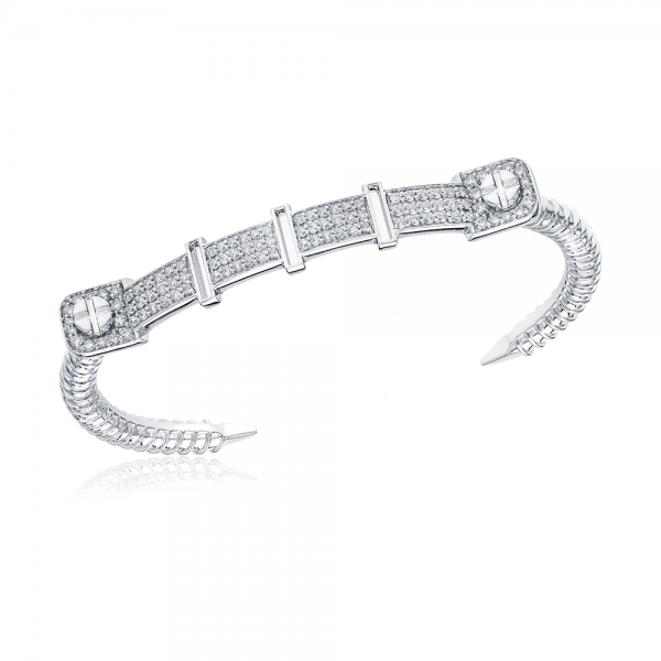 Full Diamond Bangle 18K Gold (Strength Of Spirit)