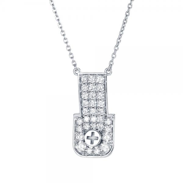 Full Diamond Pendant 18K Gold (Strength Of Spirit)