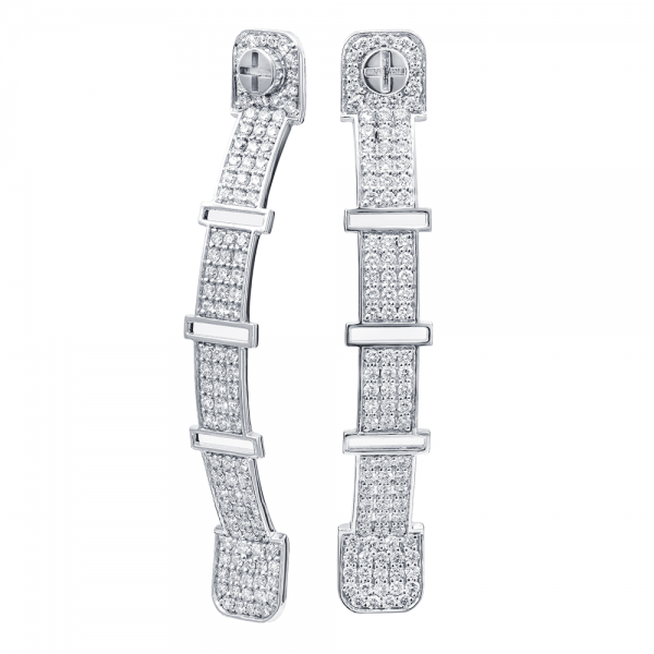 Full Diamond Earrings 4.5mm. 18K Gold