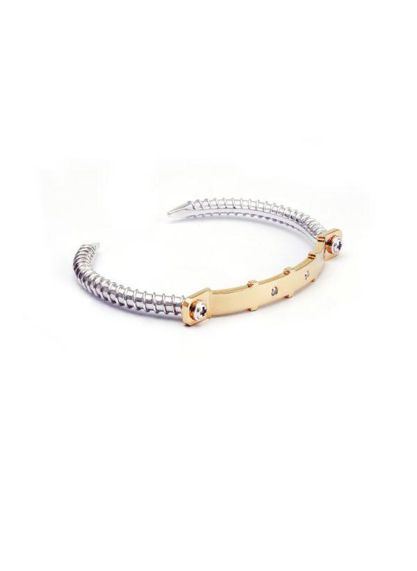 Diamond Bangle 18K Yellow Gold ( STRENGTH OF SPIRIT )