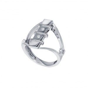 Diamond Silver Ring (Strength Of Spirit)