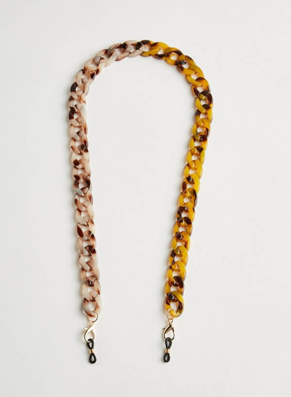 Wazna Sunglasses Chain Strap two-toned Coffee Marble