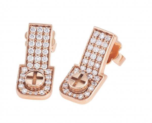 Full Diamond Earrings 18K Gold